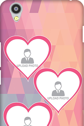 Personalised Oneplus X Pinkish Heart Mobile Cover