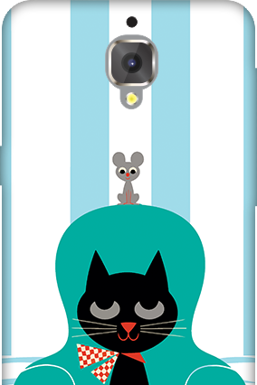 3D - OnePlus 3T Cat Mobile Cover