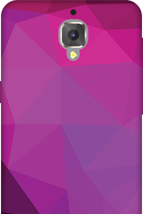 3D - OnePlus 3T Purple Mobile Cover