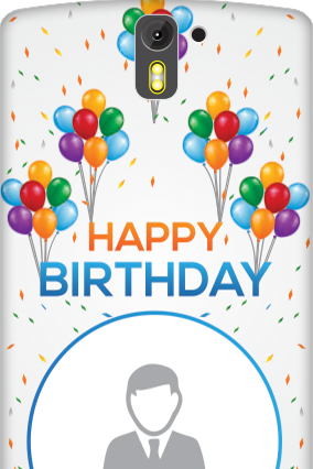 3D- OnePlus One Birthday Greetings Mobile Cover