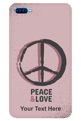 Oppo A11K Peace & Love Designer - Mobile Phone Cover