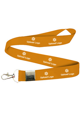 Business Upload Logo Orange Lanyard