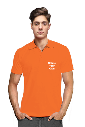 Create Your Own V Club Collar Orange T-Shirts