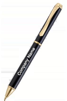 Amazing Legend Oscar Ball Black and Gold Pen