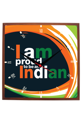 Proud Indian Square Wall Clock