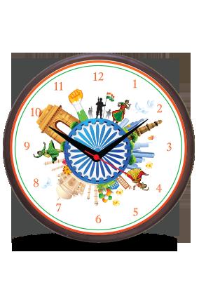 Love India Wooden Wall Clock