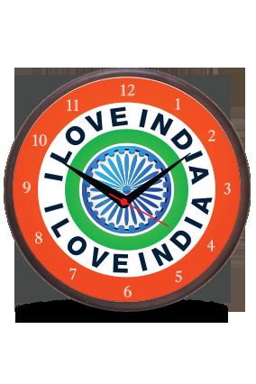 I Live India Wooden Wall Clock
