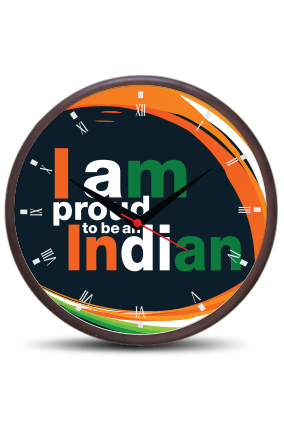 Proud Indian Wooden Wall Clock