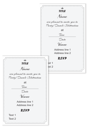 Create Your Own Invitation Card (Double Side)