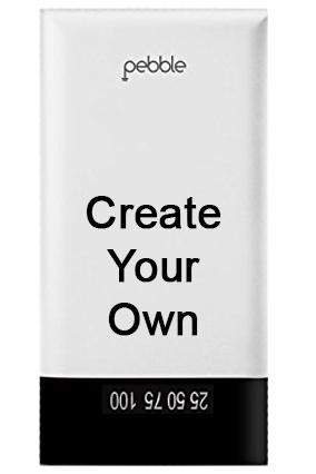 Create Your Own Pebble -PB55 - 15000mAh Power Bank - White