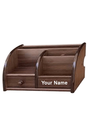 Pdph-5018 Wooden Pen Stand Brown