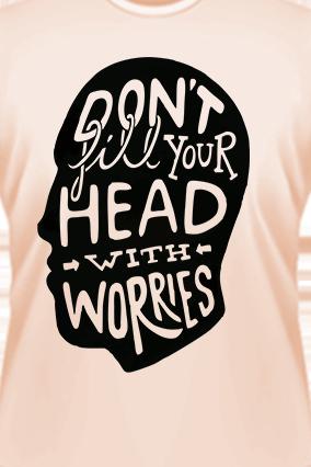 Don't Fill In Head Light Peach T-shirt