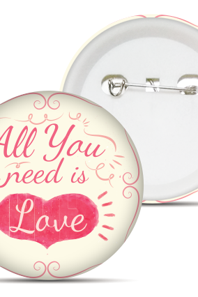 Designer All You Need Is Love Badge