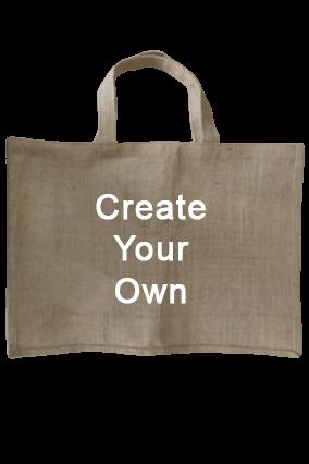 Create Your Own Plain Handle Jute Bag 14.1X16.1 Jute Bag