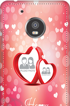 Designer 3D-Moto G5 Plus Floral Hearts Anniversary Mobile Cover