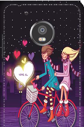 3D - Moto G5 Plus Ride Valentine's Day Mobile Cover