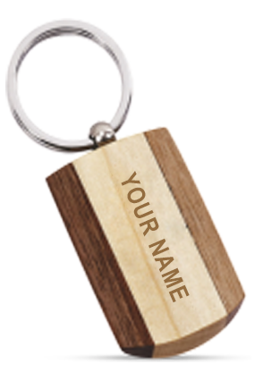 Wooden Key Chain - 7190