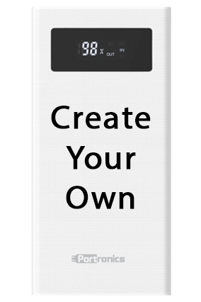 Promotional Design Your Own 20000mAh Portronics Power Bank White - POR-783