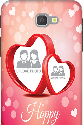 Amazing 3D-Samsung Galaxy J7 Prime Floral Hearts Anniversary Mobile Cover