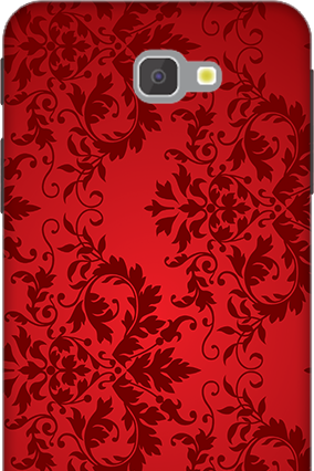 Custom 3D-Samsung Galaxy J7 Prime Red Color Mobile Cover