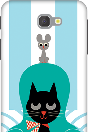 3D - Samsung Galaxy J7 Prime Cat Mobile Cover