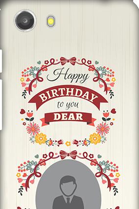 Transparent Silicon - Happy Birthday Dear Micromax Unite 3 Q372 Mobile Cover