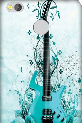Xiaomi Redmi 3S Prime Blue Guitar Mobile Cover