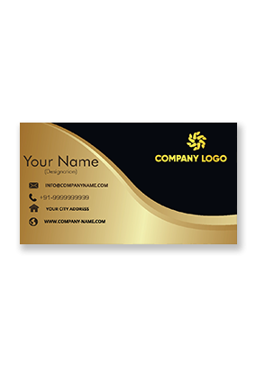 Gold Elegant Golden Metallic Business Card