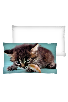 Wild Cat Background Rectangular White Cushion