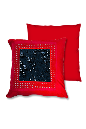 Dark Water Drop Red Square Cushion