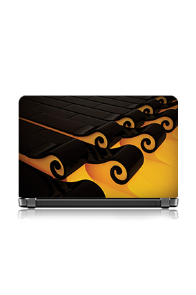 Black Yellow Designer Laptop Skin