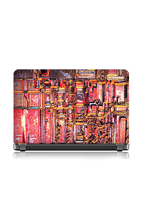 Red Color Themed Laptop Skin
