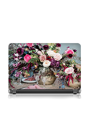 Cutomised Colorful Roses Laptop Skin
