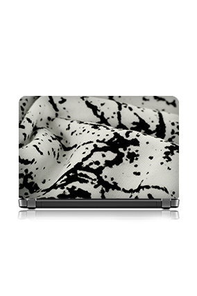 Custom Black And White Dots Pattern Laptop Skin