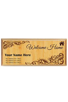 Fantastic Pine Wood Nameplate