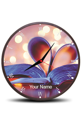 Butterfly Themed Wall Clock Circle With Boarded