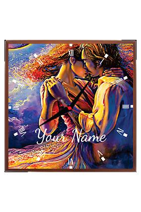 Couple Love Square Wall Clock