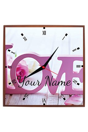 Customize My Love Square Wall Clock