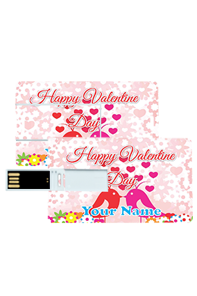 Beautiful Hearts Valentine's Day Credit Card Pen Drives