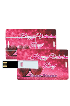 Customized Love Themed Valentine's Day Credit Card Pen Drives