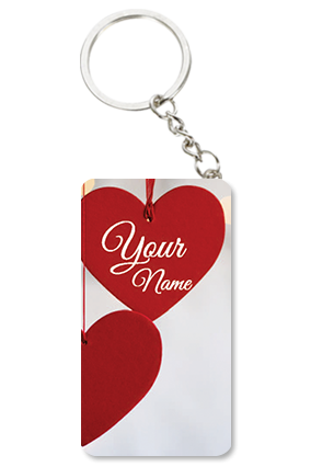 Adorable Heart Valentine's Day Small Rectangle Key Chain
