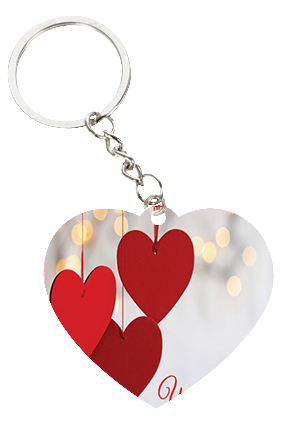 Hanging Hearts Valentine's Day Heart Keychain