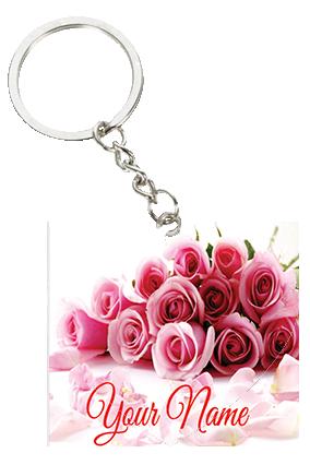Beautiful Pink Valentine's Day Heart Keychain