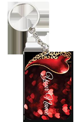 Adorable Love Square Keychain Valentine's Day Big Rectangle Keychain