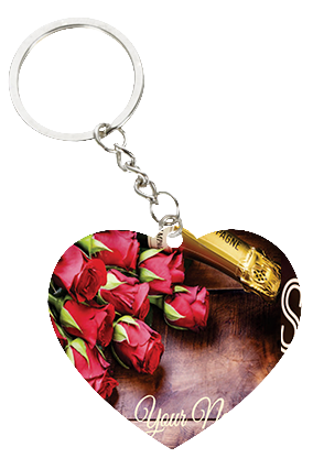Chocolates And Heart Valentine's Day Heart Keychain