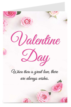Beautiful Pink Valentine'S Day Greeting Cards