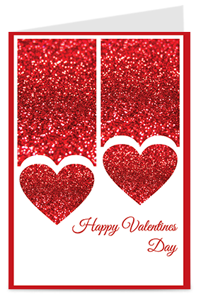 Valentines day greeting cards buy personalized valentines day red glittering heart valentines day greeting cards m4hsunfo