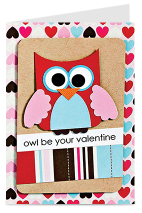 Cute Owl Valentine'S Day Greeting Cards