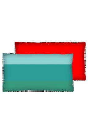 Rectangular Box Design Velvet Rectangular Red Cushion