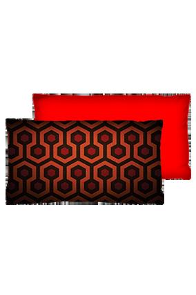 Bee Hive Pattern Velvet Rectangular Red Cushion